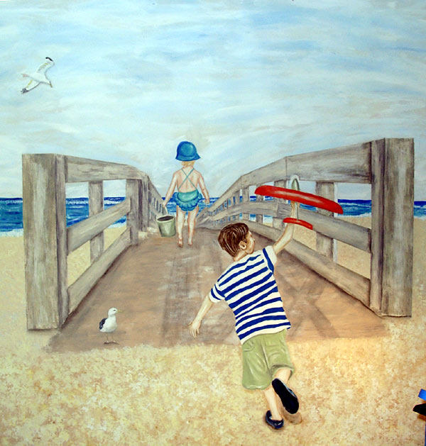 Nantucket Boardwalk Beach Mural